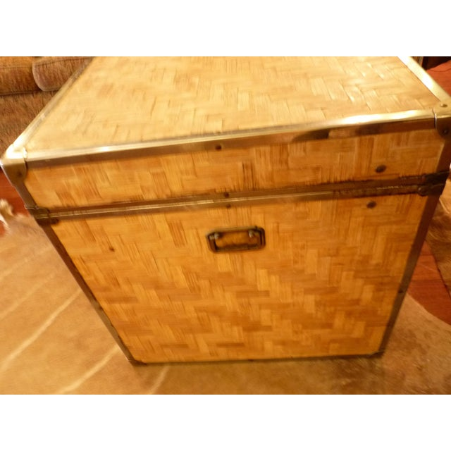 Woven Wood Storage Trunk - Image 5 of 10