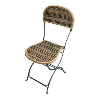 1990s French Jacques Grange Bistro Chair For Sale