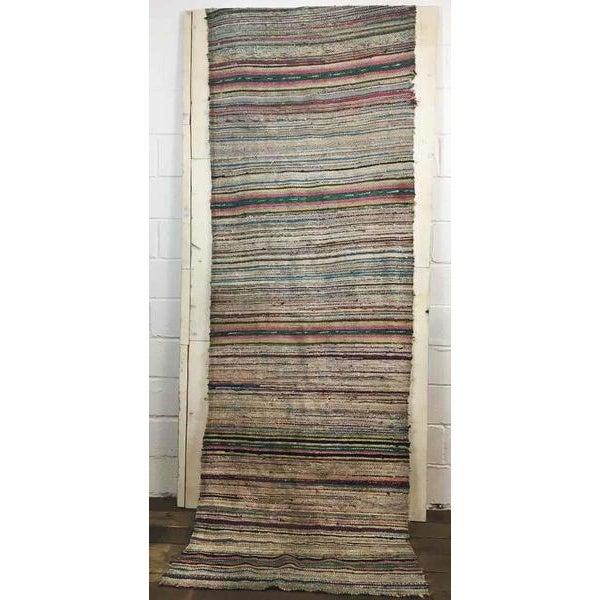 Antique Hand Woven Turkish Kilim Runner Rug - 3′3″ × 9′6″ - Image 2 of 11