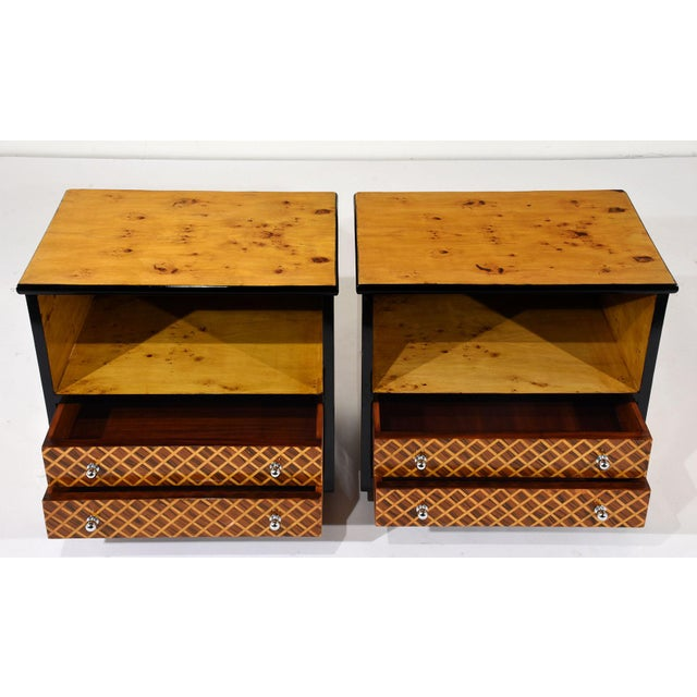 Mid-Century Modern Pair of Mid-Century Modern Nightstands or Side Tables For Sale - Image 3 of 10