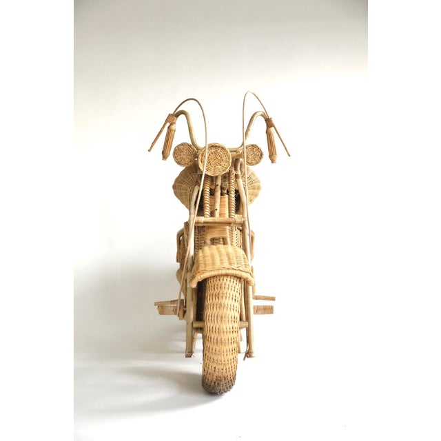 Contemporary Tom Dixon Rattan Motorcycle Sculpture For Sale - Image 3 of 13