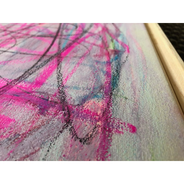 """Artist: Tony Curry Modern Abstract Painting Signed & Titled """"LOVE"""" Original Painting on Professional Artist Canvas...."""