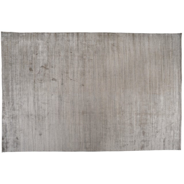 "Zen Collection Beige and Silver Rug- 11'10"" X 17'11"" For Sale In Los Angeles - Image 6 of 6"