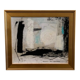 1960s Graham Harmon Oil Painting W/Gold Frame For Sale