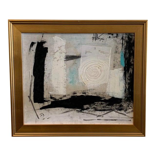 1960s Graham Harmon Oil Painting W/Gold Frame For Sale