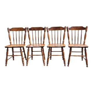 Mid Century Rock Maple Moosehead Chairs- Set of 4 For Sale