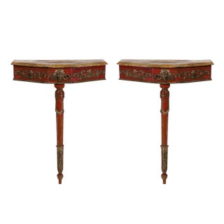 Painted Italian Consoles - A Pair For Sale