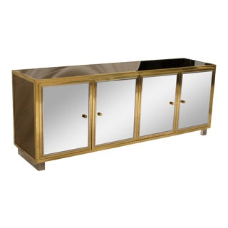 Mirrored Credenza by Michel Pigneres, circa 1969 For Sale