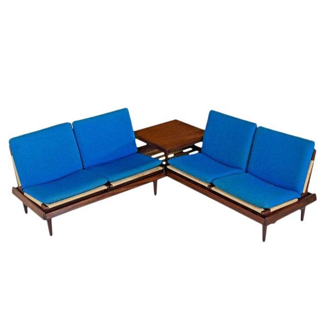 Hans Olsen Tv 161 for Bramin Mobler Modular Rope Seating & End Table Sofa Set For Sale