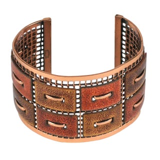Matisse Renoir Copper Cuff Bracelet For Sale