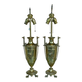 Late 19th Century Antique French Napoleon III Lamps - A Pair For Sale