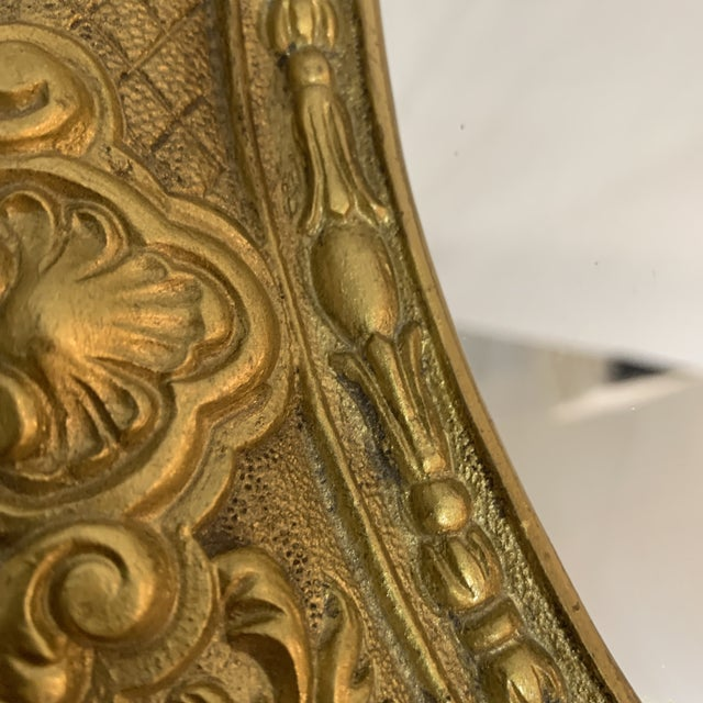 1940s French Gilt Bronze Mirrored Tray For Sale - Image 5 of 9