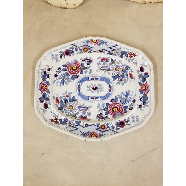 "Large ""Columbia"" Transferware Platter For Sale - Image 4 of 4"