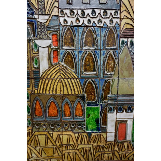 1960s Glazed Ceramic Tiles by Raul Coronel For Sale - Image 5 of 7