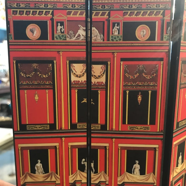 Piero Fornasetti Pompeiana Miniature Folding Screen.