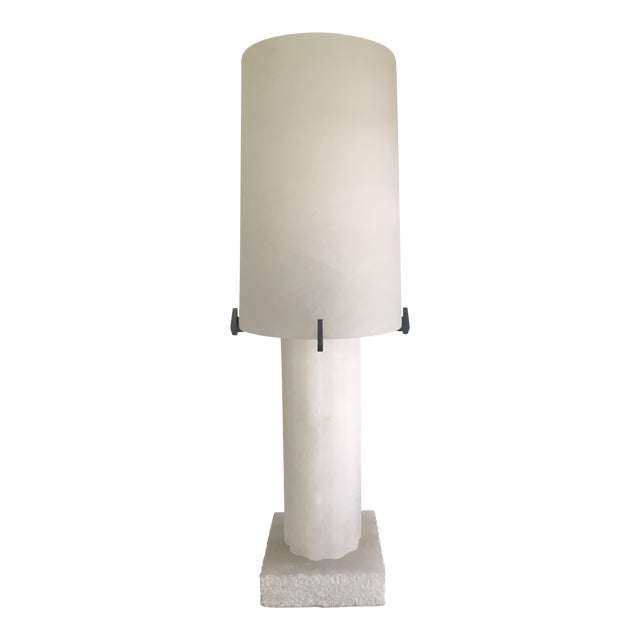 Thomas obrien alabaster pompeii table lamp image 1 of 6