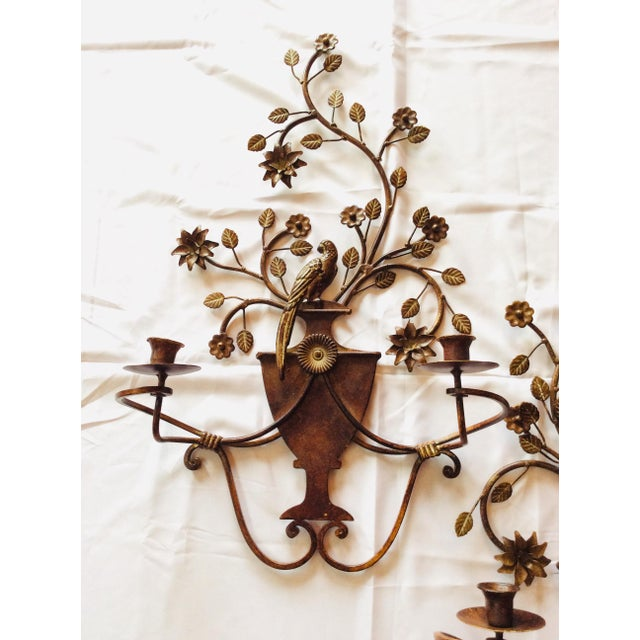 Stunning and rare. Chinoiserie meets Art Deco. These Maison Bagues wall sconces are heavy, but ethereal. With the trade...
