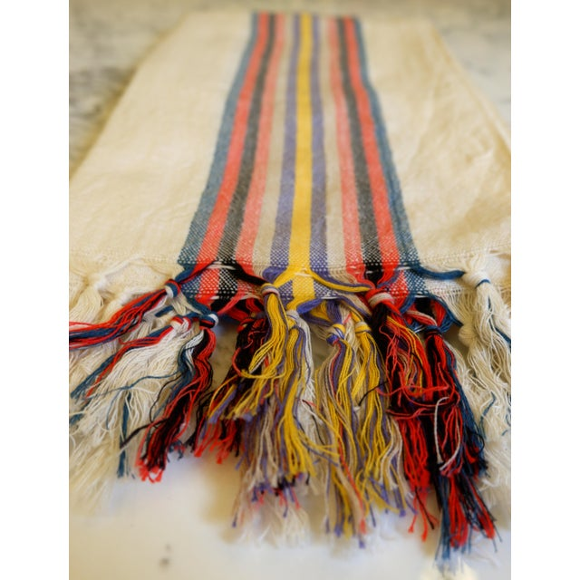 Fiber Turkish Hand Made Towel With Natural/Organic Cotton For Sale - Image 7 of 8