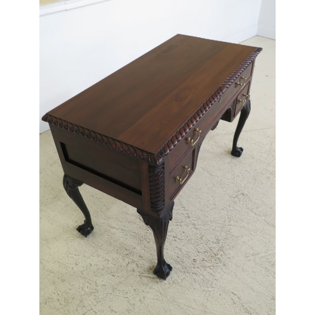 Chippendale Style Traditional Ball & Claw Mahogany Desk or Vanity For Sale - Image 4 of 13