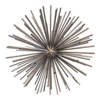 Monumental Nickel Kaleidoscope Sculpture Sputnik For Sale