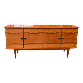 1940s French Exotic Mahogany Sideboard For Sale