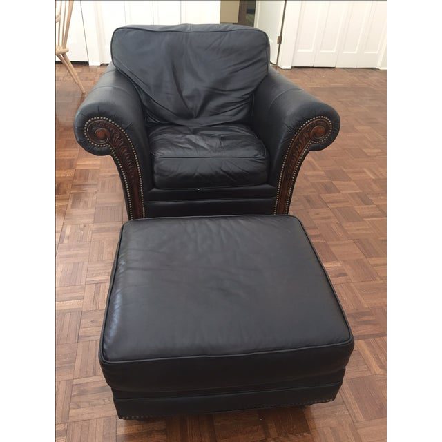 Alexander Taylor Old World Chair & Ottoman - Image 2 of 5