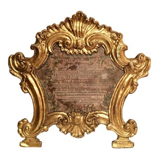 18th Century Antique Baroque Ecclesiastical Carta Gloria For Sale