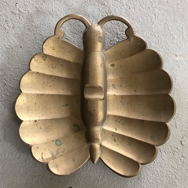 Brass Butterfly Ashtray - Image 2 of 3