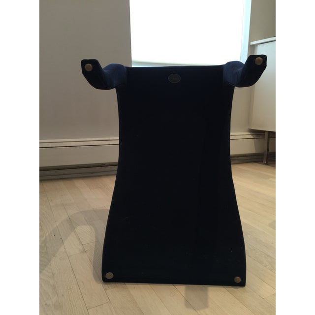 "Dialogica Navy Blue ""Splash"" Chair For Sale - Image 7 of 8"