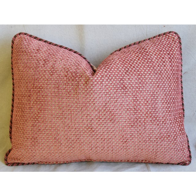 """Colefax & Fowler Leopard Print & Chenille Feather/Down Pillows 22"""" X 16"""" - Pair - Image 11 of 13"""