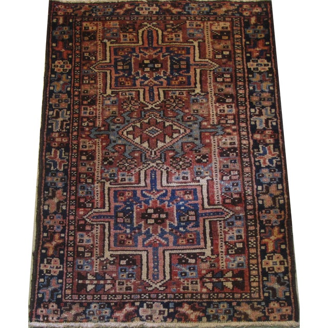"Persian Karaje Rug - 1'10"" X 2'9"" - Image 2 of 5"