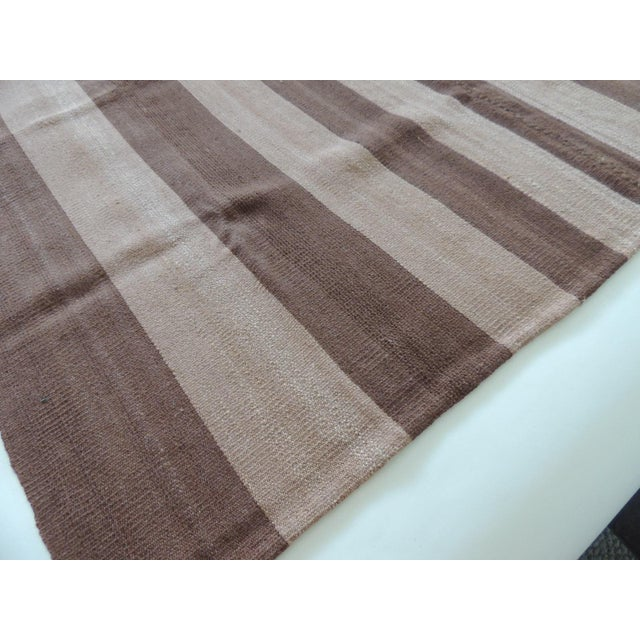 1990s Vintage Brown and Camel Woven Textile For Sale - Image 5 of 6