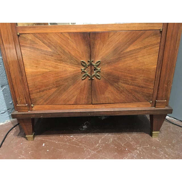 Gold French Mid-Century Modern Rosewood Bar For Sale - Image 8 of 12
