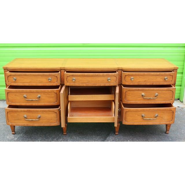 Mid-Century Walnut Dresser For Sale - Image 4 of 9