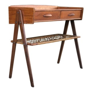 Danish Mid Century Modern Single Nightstand in Teak