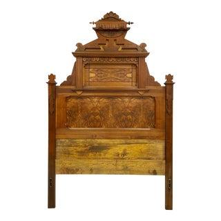 Antique Victorian Wooden Full/Queen Headboard