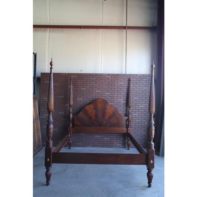 Mahogany Cal King 4 Post Bed Chairish