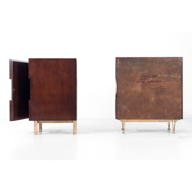Brass Edmund Spence Pair of End Tables or Nightstands For Sale - Image 7 of 11