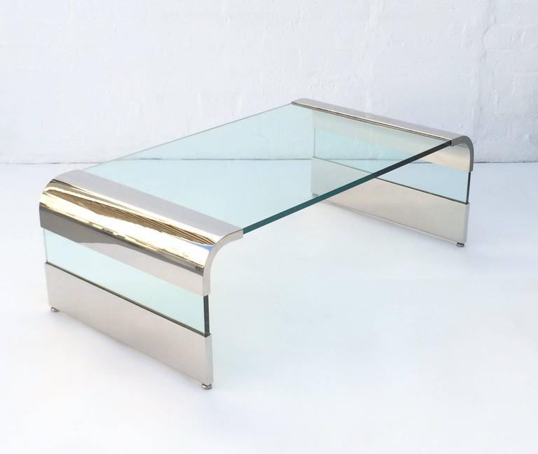Silver Waterfall Cocktail Table By Leon Rosen For Pace Collection For Sale    Image 8 Of