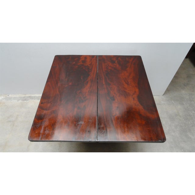 Black Antique Ebonized Empire Game Table and Console For Sale - Image 8 of 11