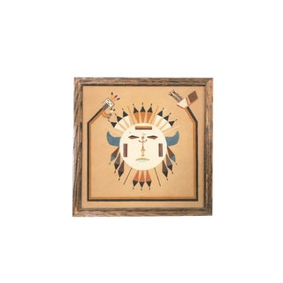 Vintage Native American Sand Art Painting For Sale