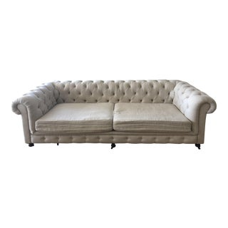 Restoration Hardware 9' Belgian Linen 44 Kensington Sofa