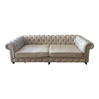 Restoration Hardware 9' Belgian Linen Luxe Kensington Sofa