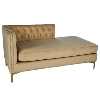 Statements By J Harper Tufted Chaise For Sale