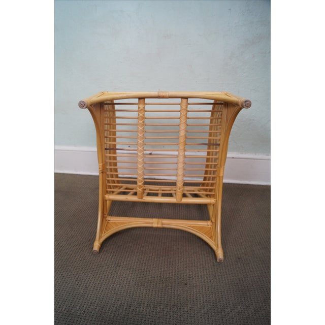 Rattan Palm Leaf Bamboo Lounge Chair - Image 9 of 10