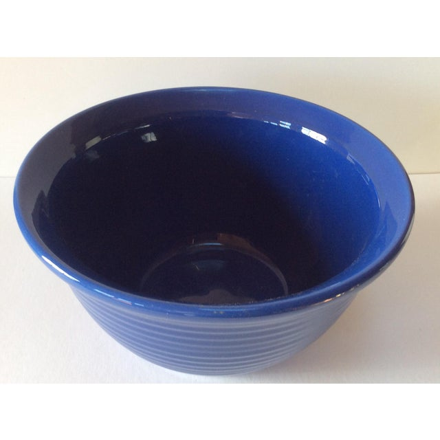 Cottage Vintage Bauer Blue Pottery Bowl For Sale - Image 3 of 6