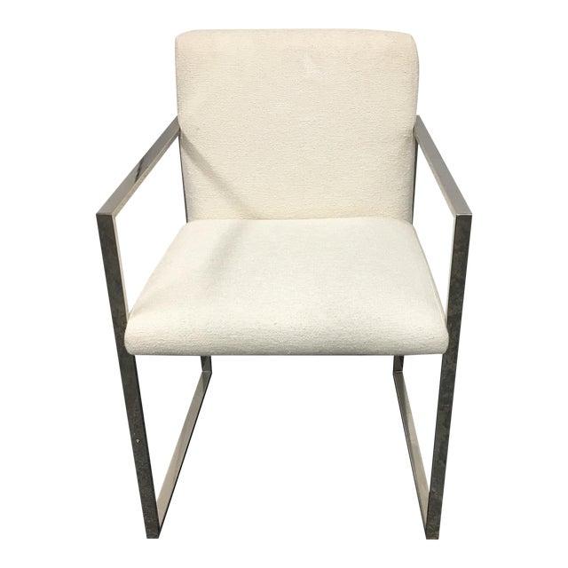New Palecek Stainless Steel Atlantic Arm Chair - Image 1 of 8