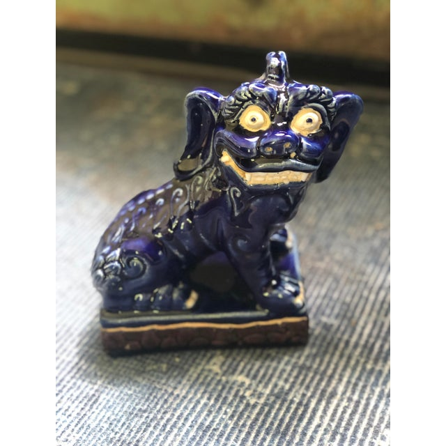 Vintage Foo Dog Statues - a Pair For Sale - Image 4 of 8