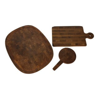 1970s Jens Quistgaard Woods Cheese Boards for Dansk - Set of 3 For Sale