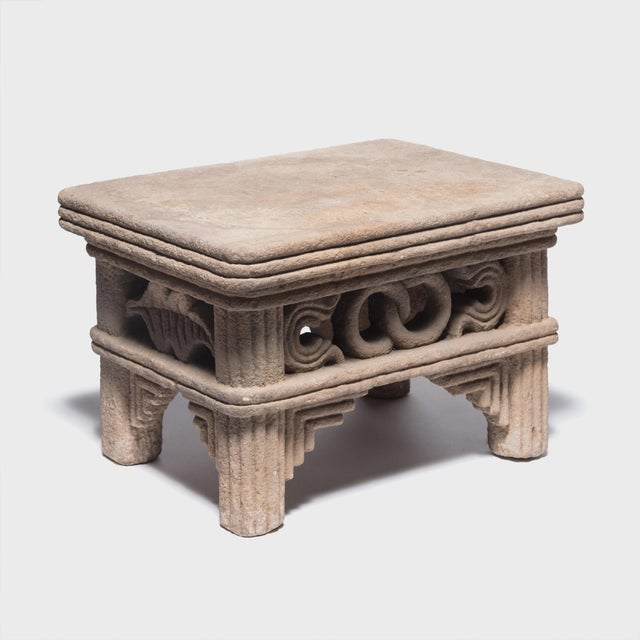 Chinese Ming Interlocking Ring Stone Table For Sale - Image 4 of 8